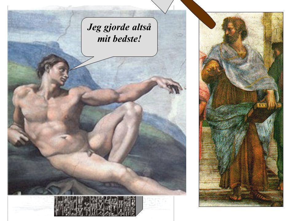 Aristoteles Hvis en læge foretager et stort kirurgisk indgreb med en kniv, og dræber ham, eller åbner en knude med en kirurgisk kniv, og skærer øjet ud, så skal hans hænder hugges af. Jeg gjorde altså mit bedste!