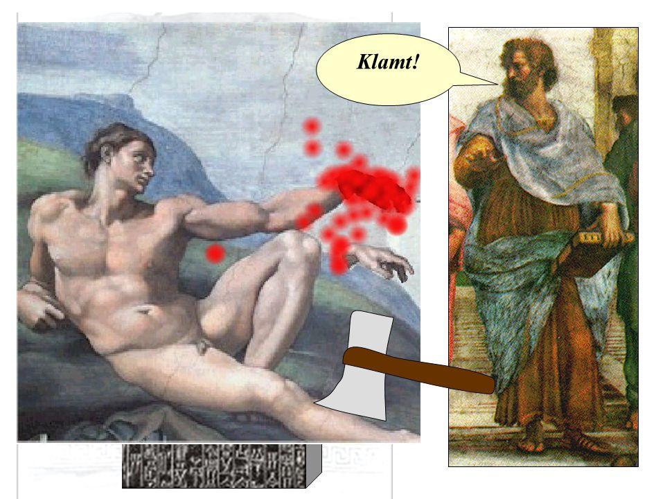 Aristoteles Hvis en læge foretager et stort kirurgisk indgreb med en kniv, og dræber ham, eller åbner en knude med en kirurgisk kniv, og skærer øjet ud, så skal hans hænder hugges af. Klamt!