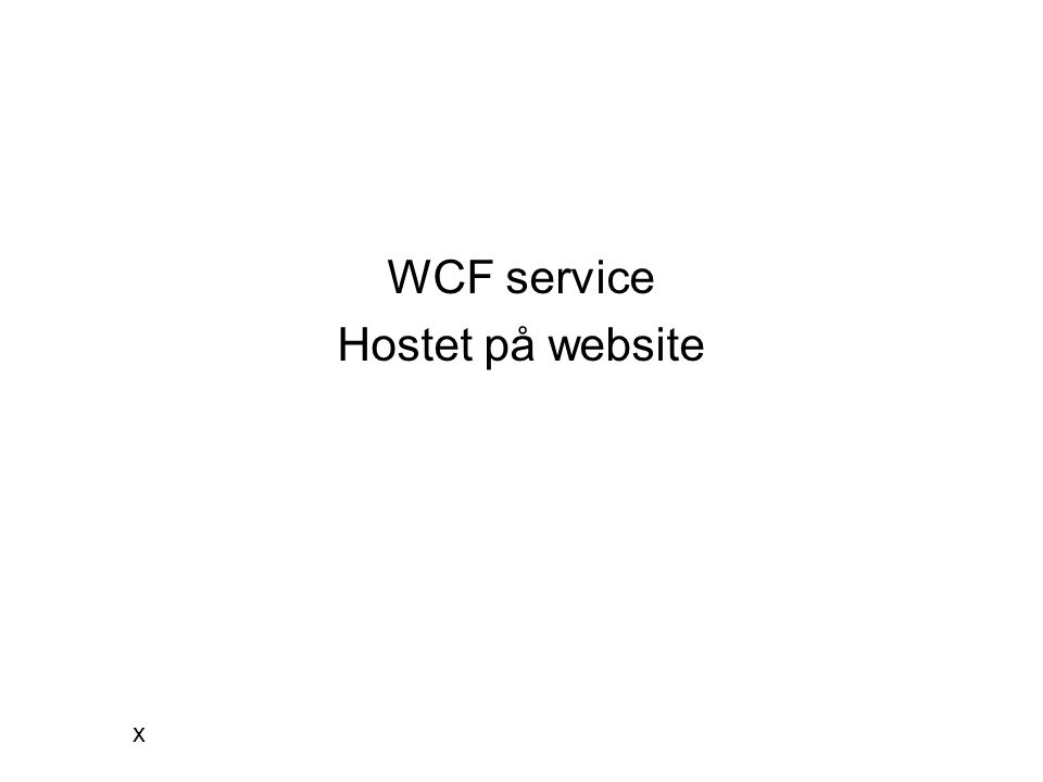 WCF service Hostet på website x