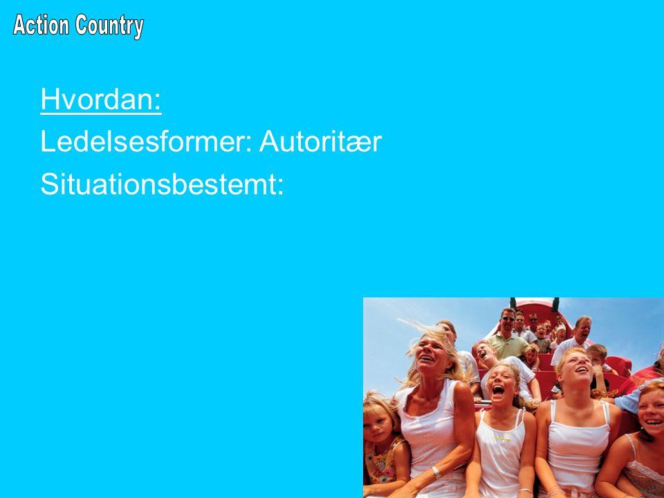 Hvordan: Ledelsesformer: Autoritær Situationsbestemt: