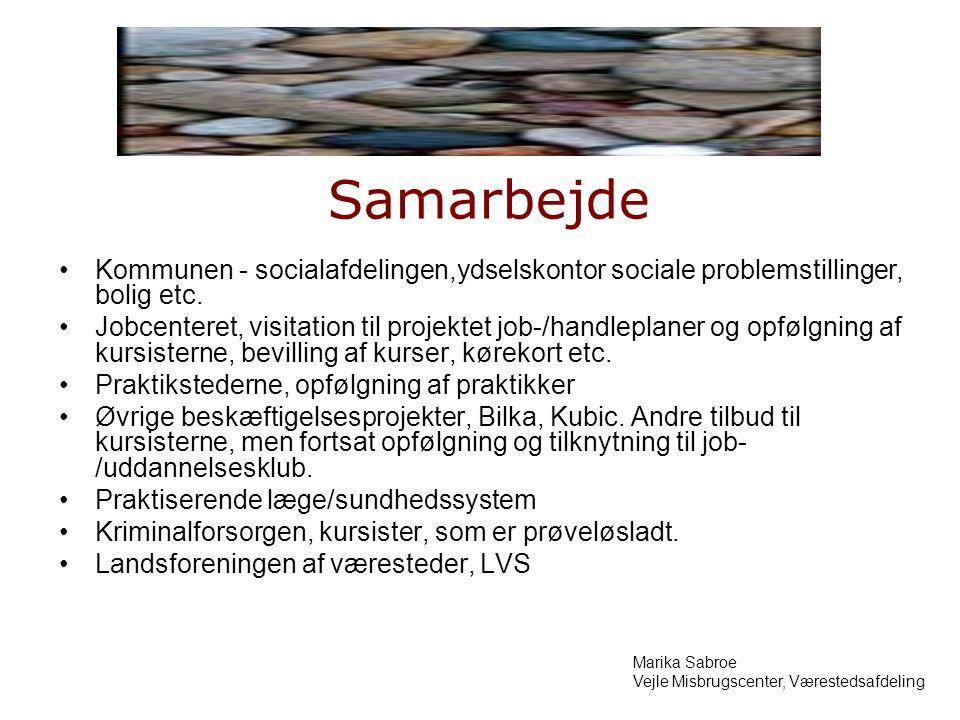 Samarbejde Kommunen - socialafdelingen,ydselskontor sociale problemstillinger, bolig etc.
