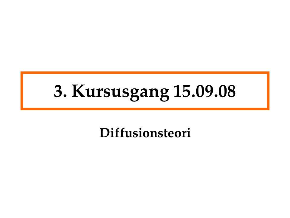 3. Kursusgang 15.09.08 Diffusionsteori