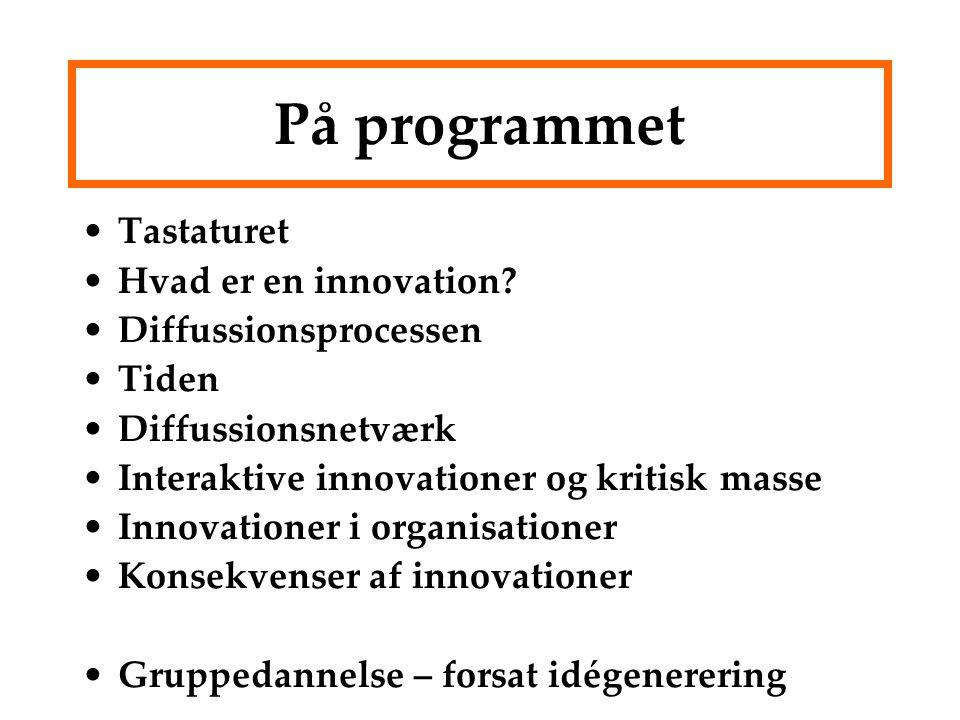 På programmet Tastaturet Hvad er en innovation.