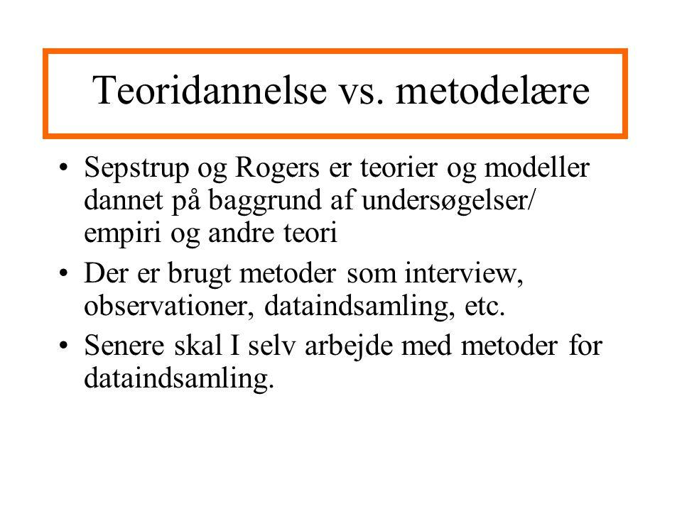 Teoridannelse vs.