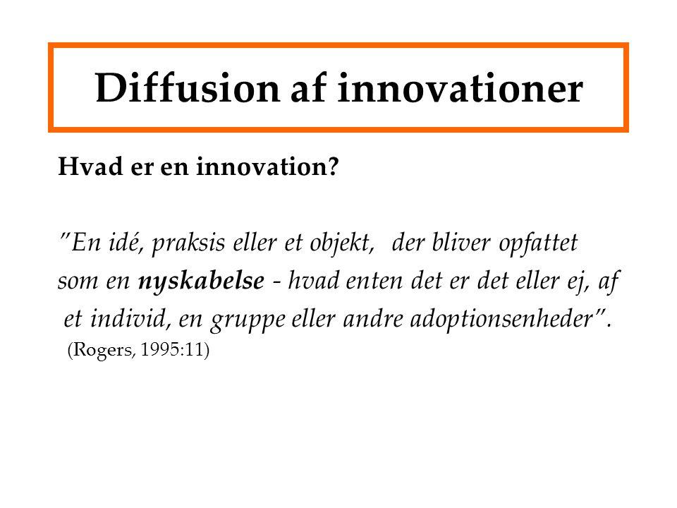 Diffusion af innovationer Hvad er en innovation.