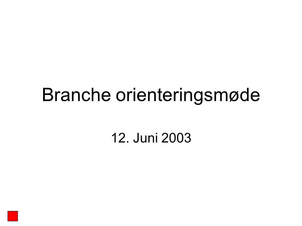 Branche orienteringsmøde 12. Juni 2003