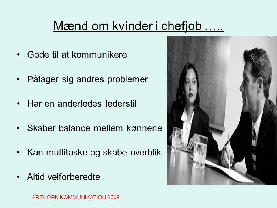 Mænd om kvinder i chefjob …..