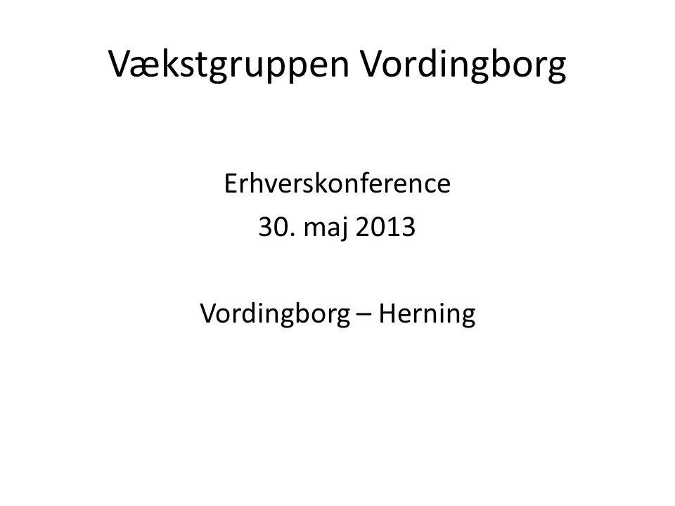 Vækstgruppen Vordingborg Erhverskonference 30. maj 2013 Vordingborg – Herning