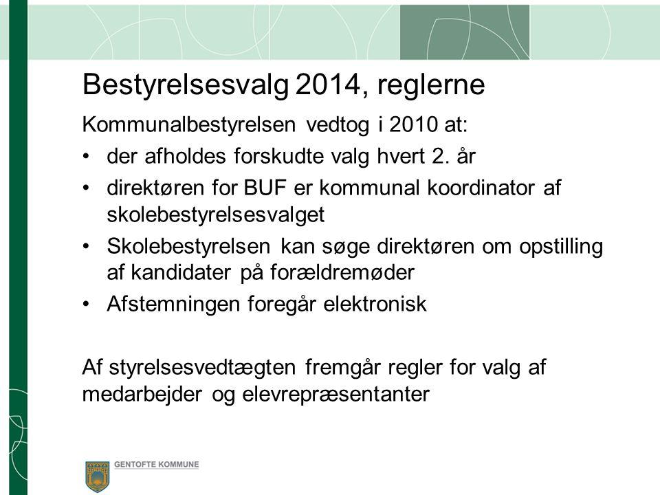 Bestyrelsesvalg 2014, reglerne Kommunalbestyrelsen vedtog i 2010 at: der afholdes forskudte valg hvert 2.