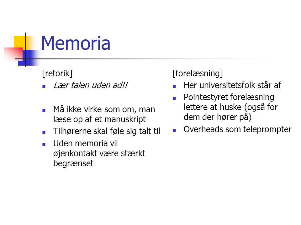 Memoria [retorik] Lær talen uden ad!.