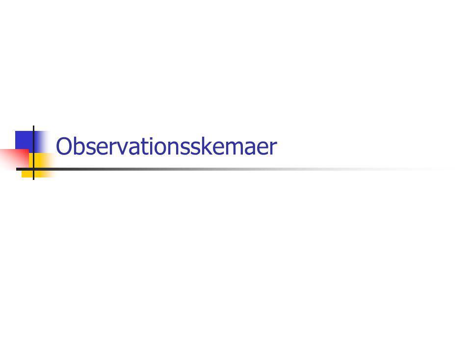 Observationsskemaer