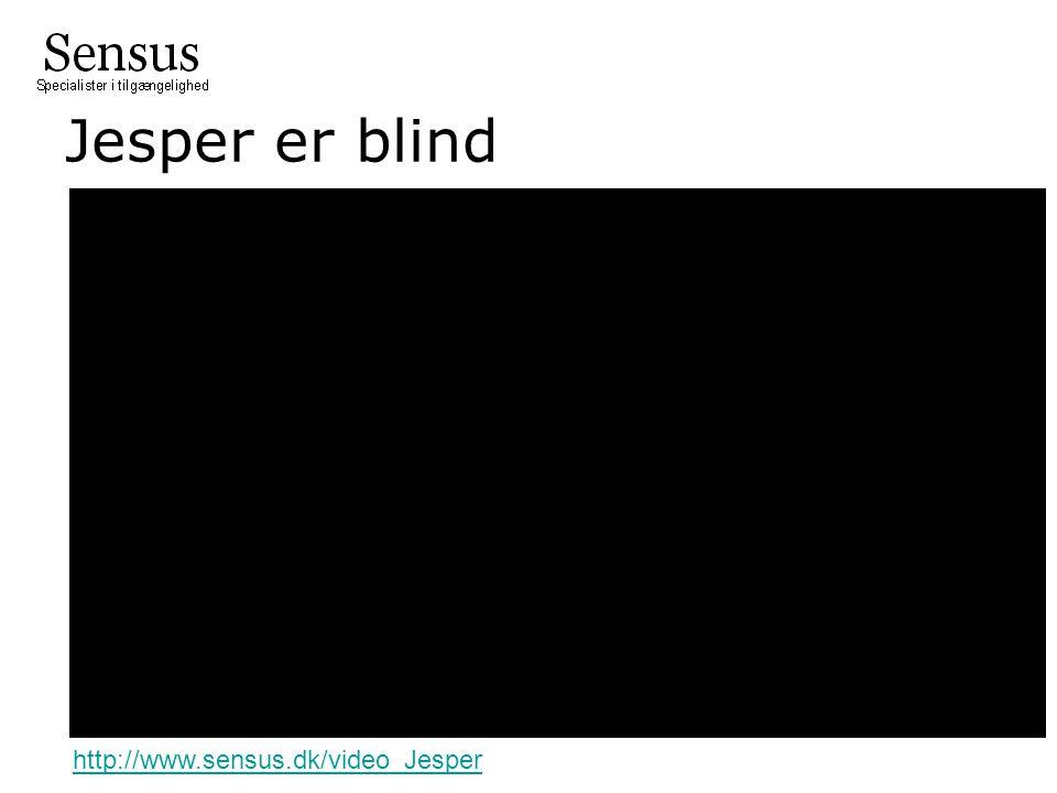 Jesper er blind http://www.sensus.dk/video_Jesper