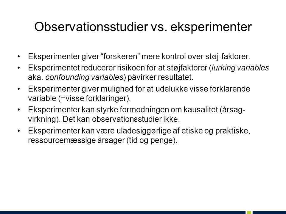 Observationsstudier vs.