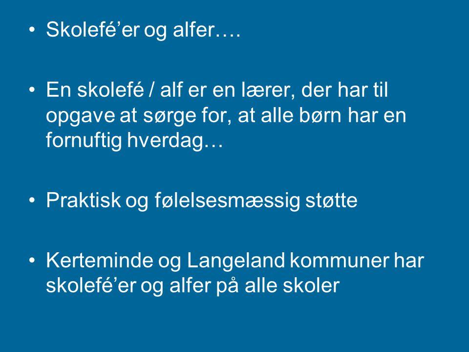Skolefé'er og alfer….