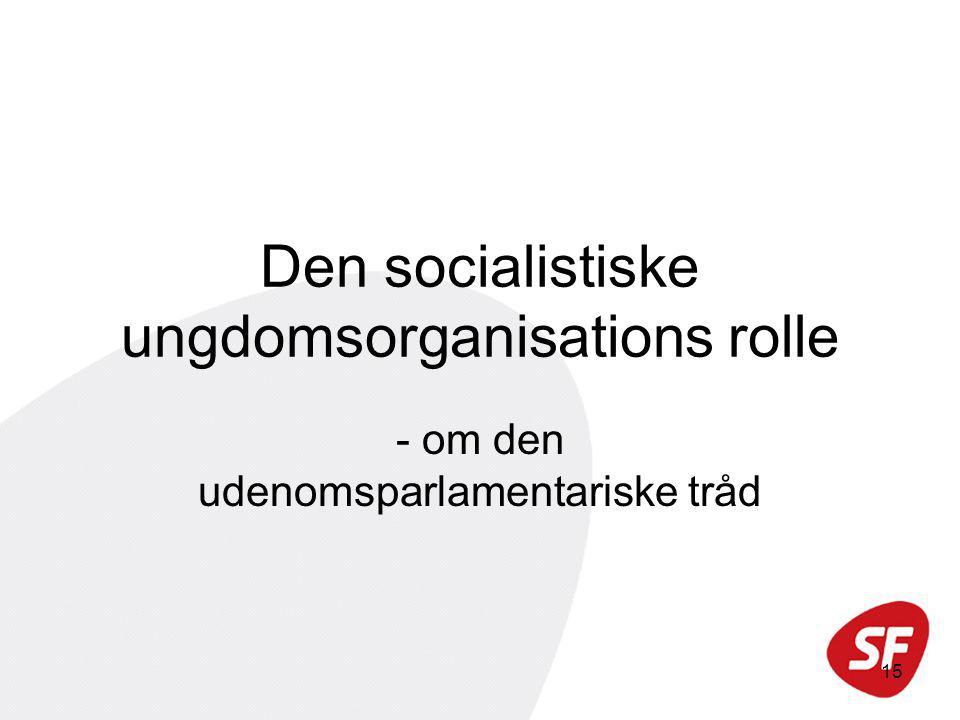 15 Den socialistiske ungdomsorganisations rolle - om den udenomsparlamentariske tråd