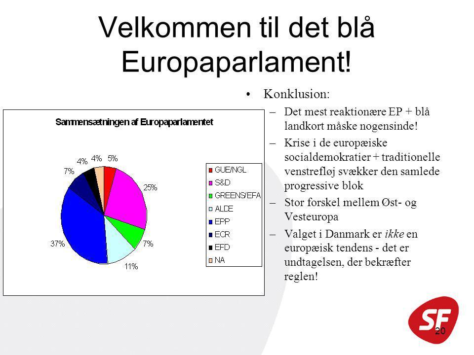 20 Velkommen til det blå Europaparlament.