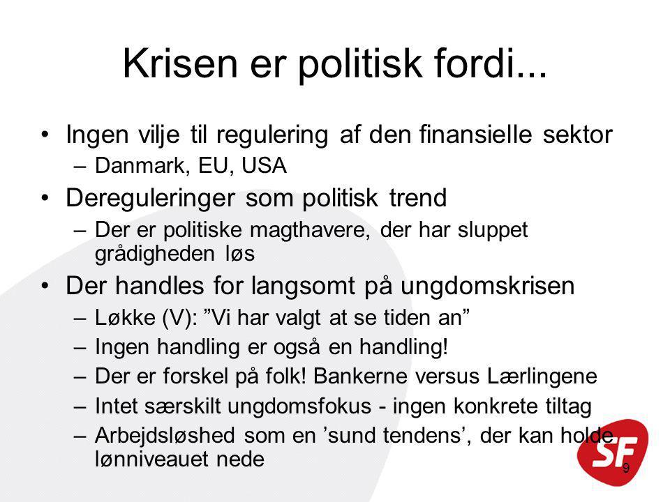9 Krisen er politisk fordi...