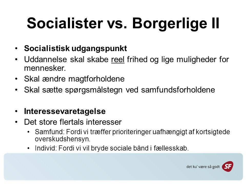 Socialister vs.