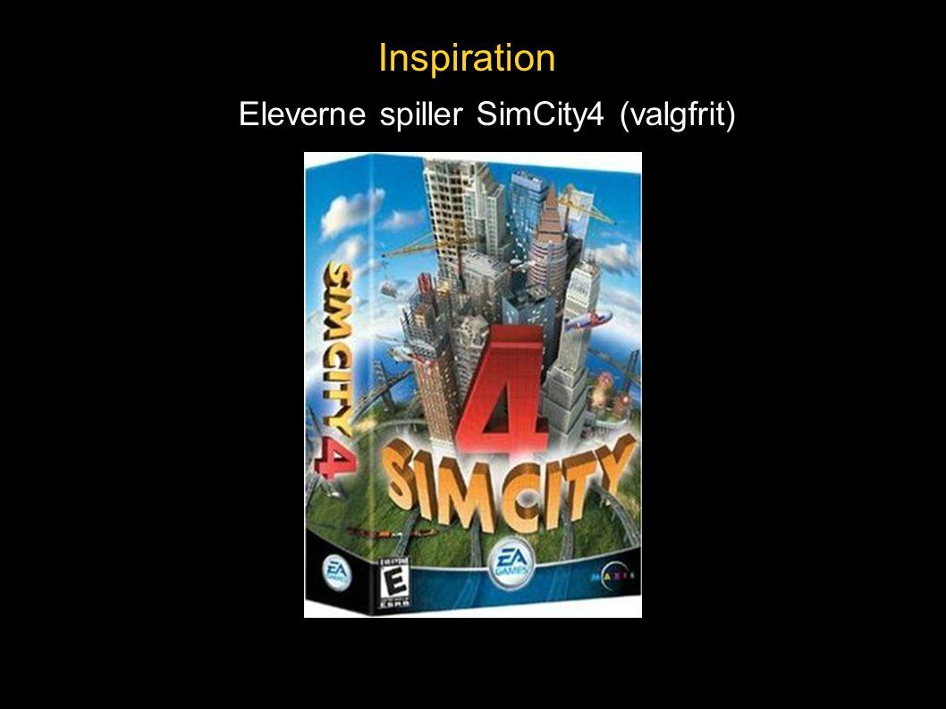 Inspiration Eleverne spiller SimCity4 (valgfrit)