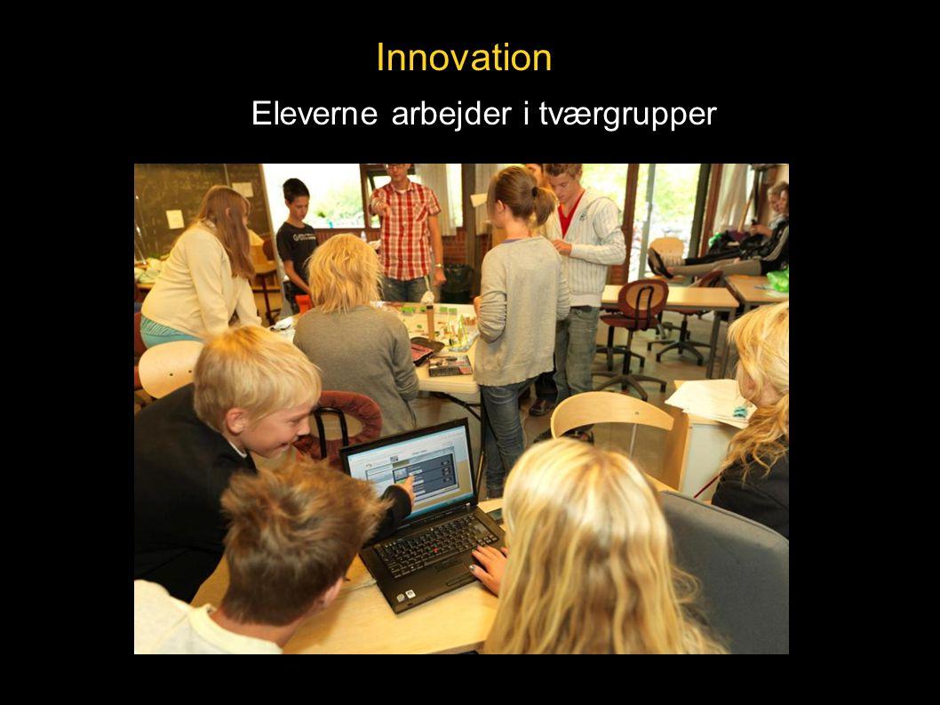 Innovation Eleverne arbejder i tværgrupper