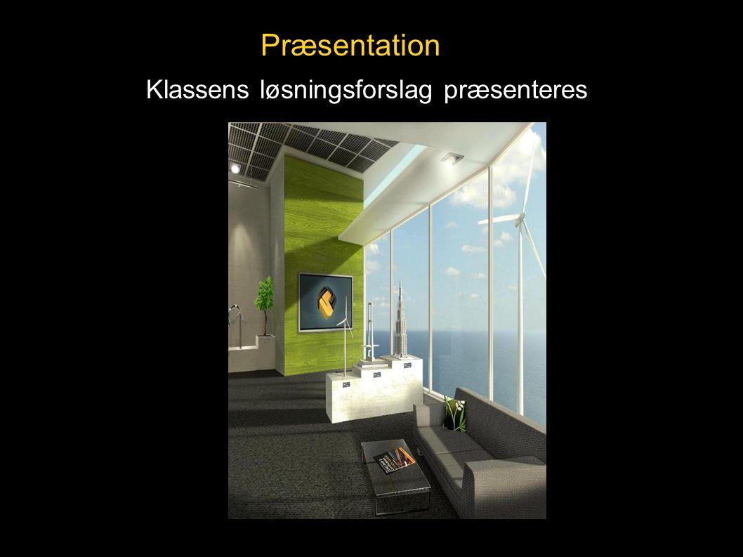Præsentation Klassens løsningsforslag præsenteres