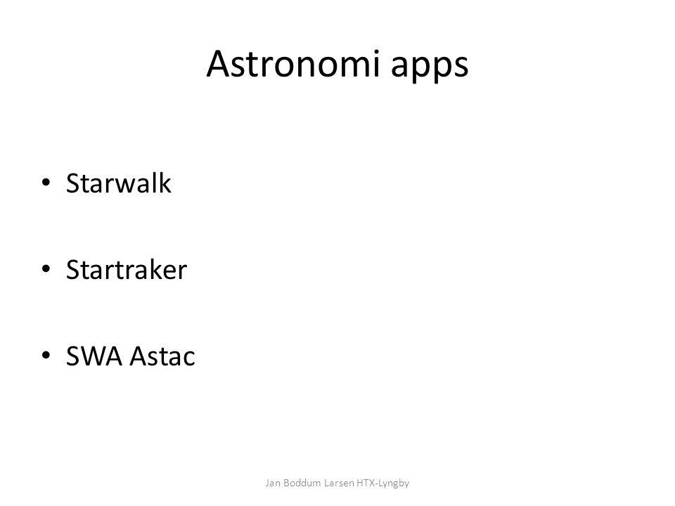 Astronomi apps Starwalk Startraker SWA Astac Jan Boddum Larsen HTX-Lyngby