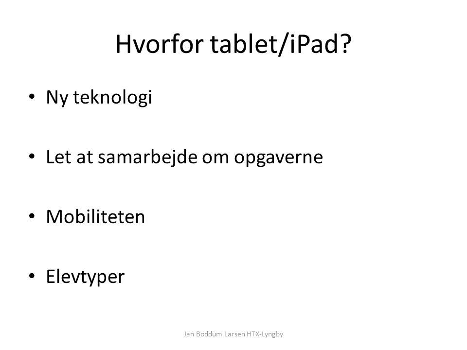 Hvorfor tablet/iPad.