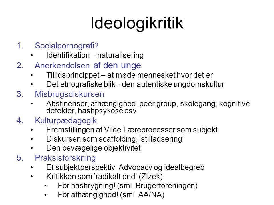 Ideologikritik 1.Socialpornografi .