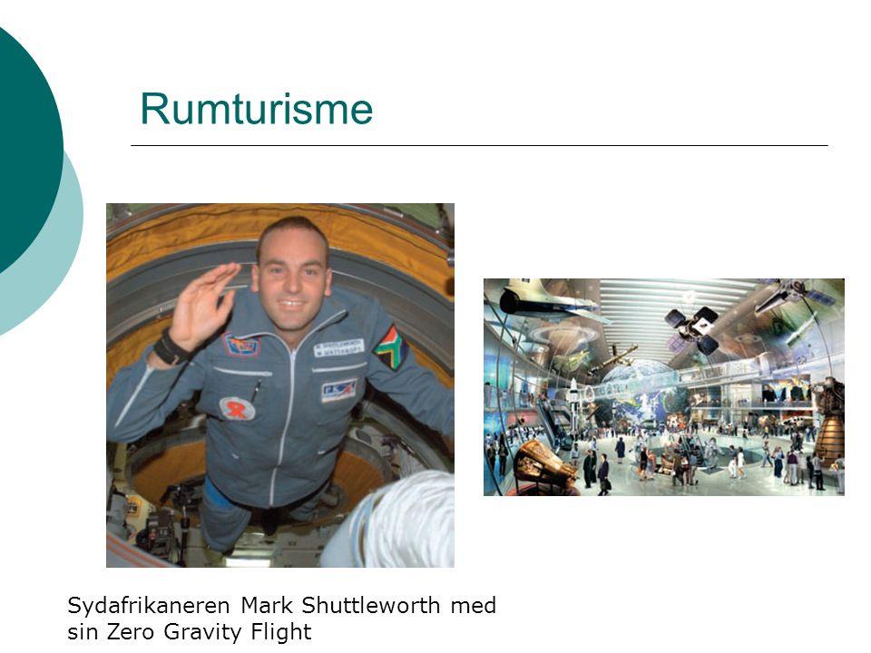Rumturisme Sydafrikaneren Mark Shuttleworth med sin Zero Gravity Flight