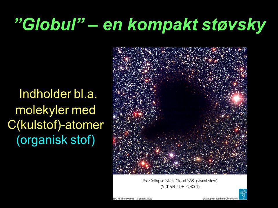 Indholder bl.a. molekyler med C(kulstof)-atomer (organisk stof) Globul – en kompakt støvsky