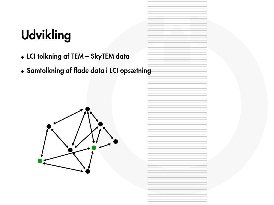 Udvikling l LCI tolkning af TEM – SkyTEM data l Samtolkning af flade data i LCI opsætning