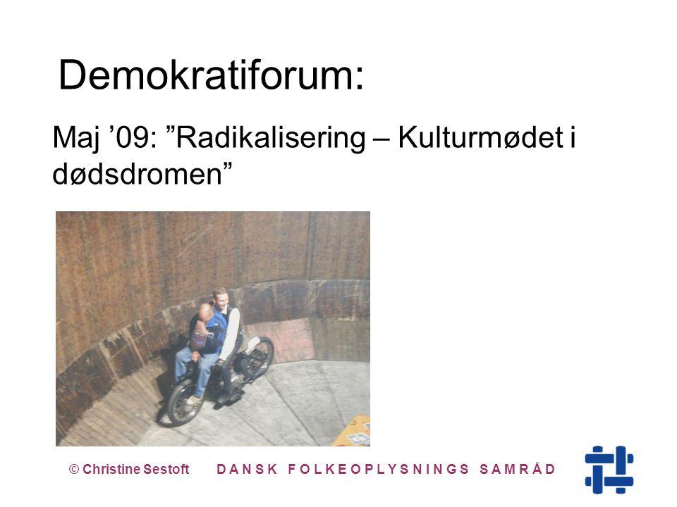 Maj '09: Radikalisering – Kulturmødet i dødsdromen © Christine Sestoft D A N S K F O L K E O P L Y S N I N G S S A M R Å D Demokratiforum: