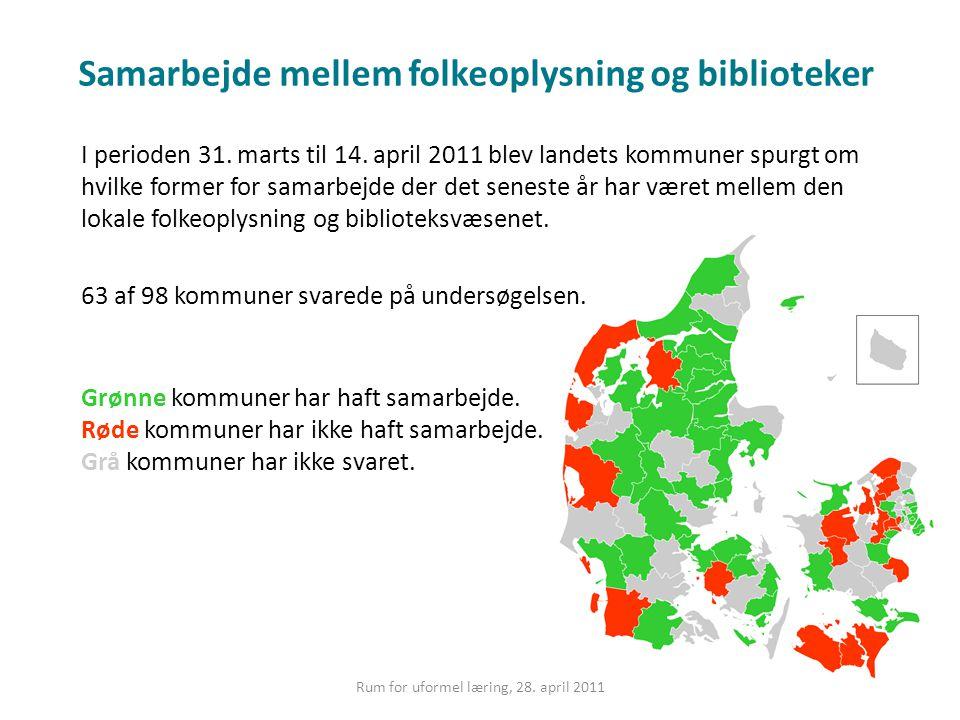 Samarbejde mellem folkeoplysning og biblioteker I perioden 31.