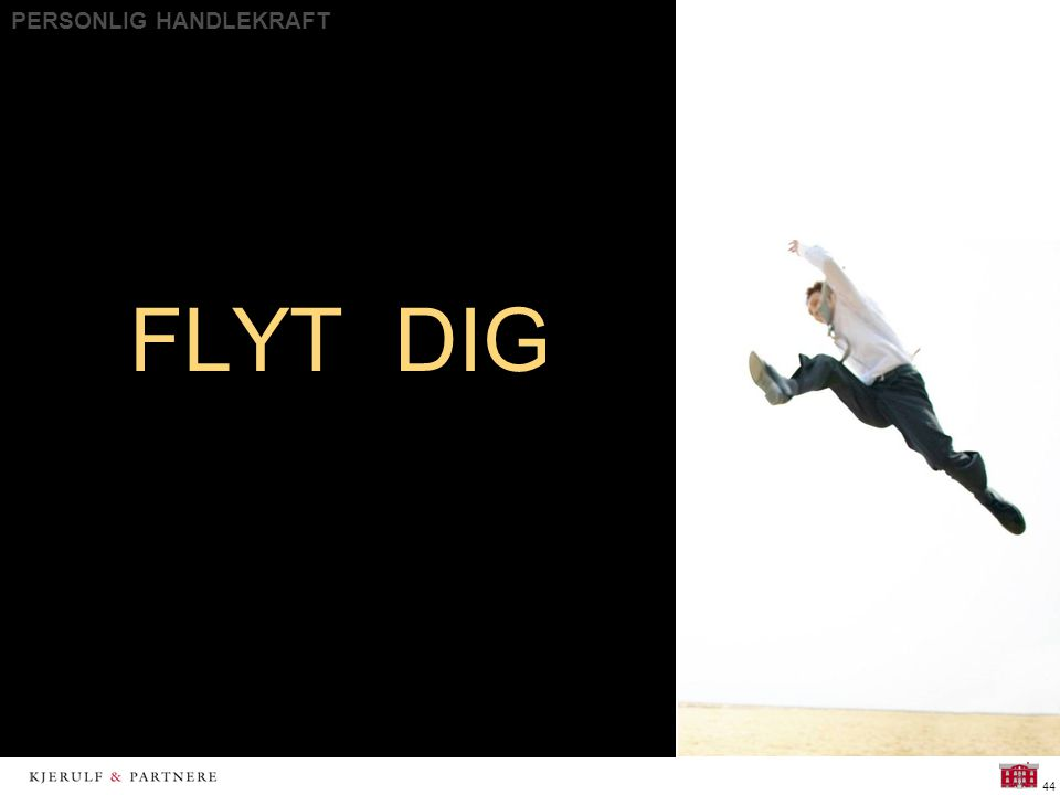 PERSONLIG HANDLEKRAFT 44 FLYT DIG