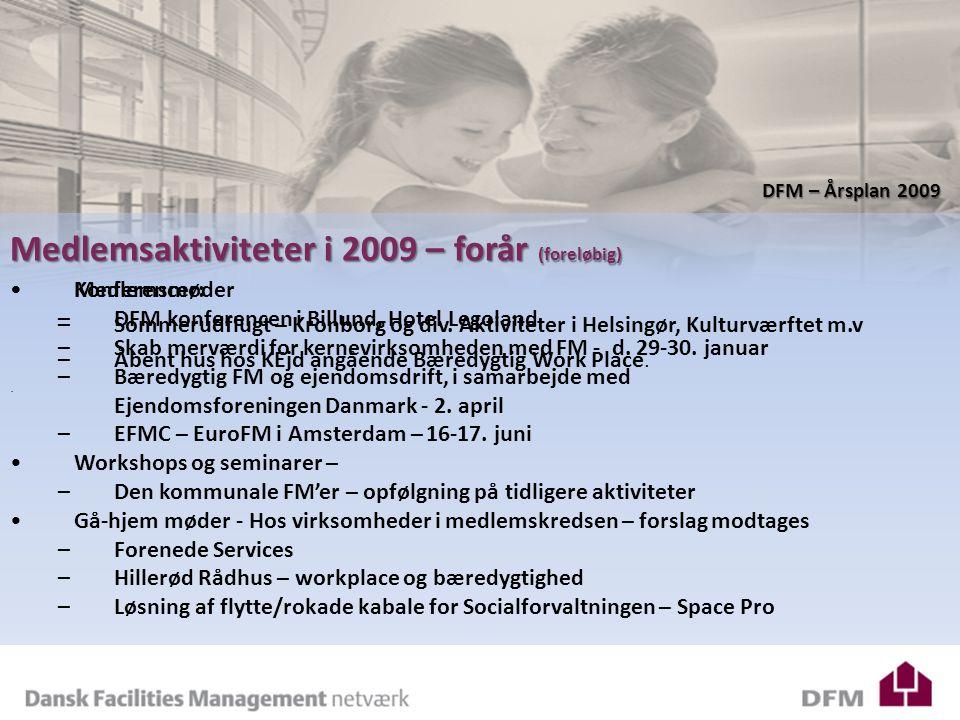 Konferencer: –DFM konferencen i Billund, Hotel Legoland –Skab merværdi for kernevirksomheden med FM - d.