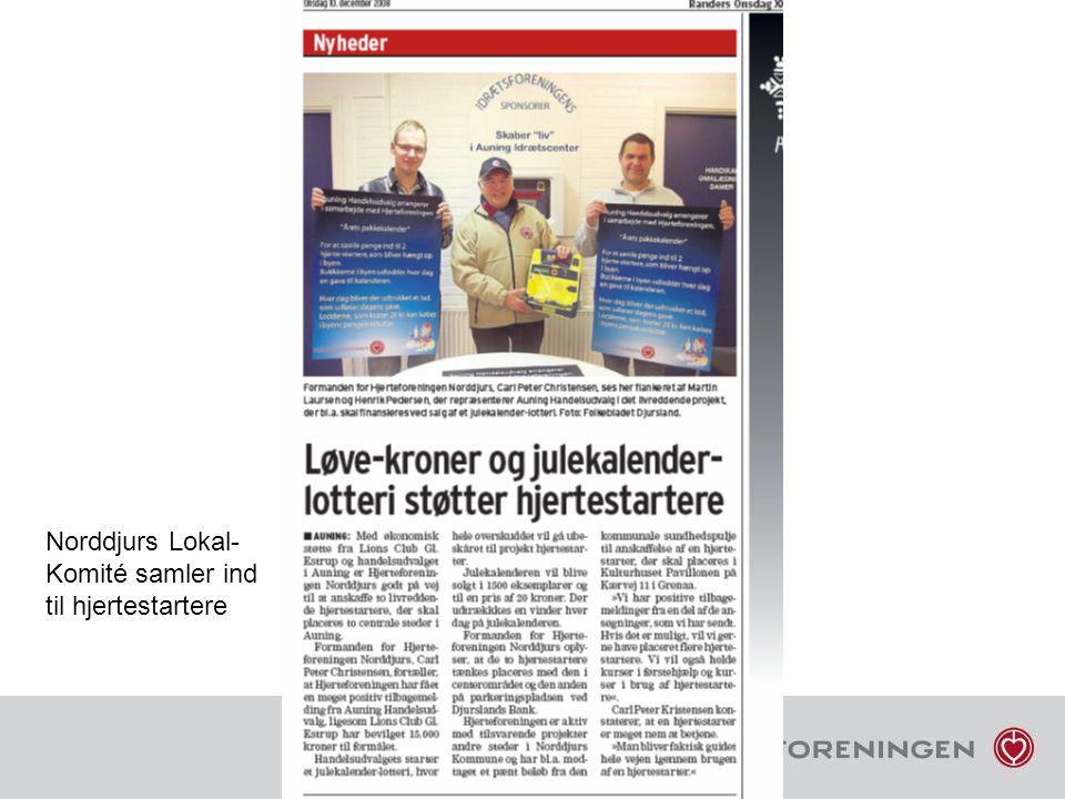 Norddjurs Lokal- Komité samler ind til hjertestartere