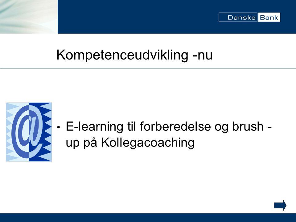 Kompetenceudvikling -nu E-learning til forberedelse og brush - up på Kollegacoaching