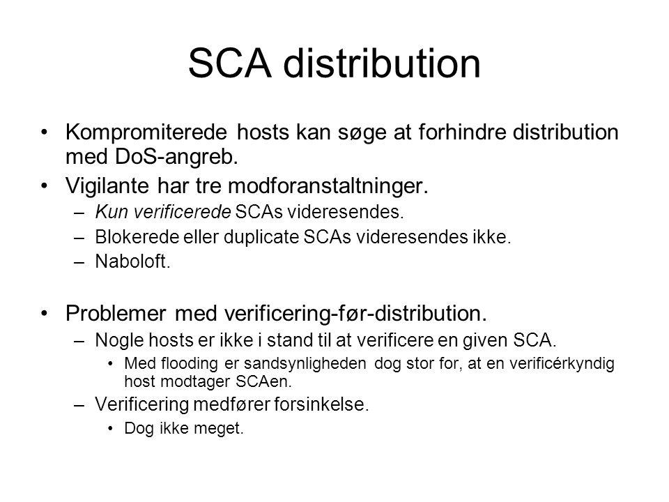 SCA distribution Kompromiterede hosts kan søge at forhindre distribution med DoS-angreb.