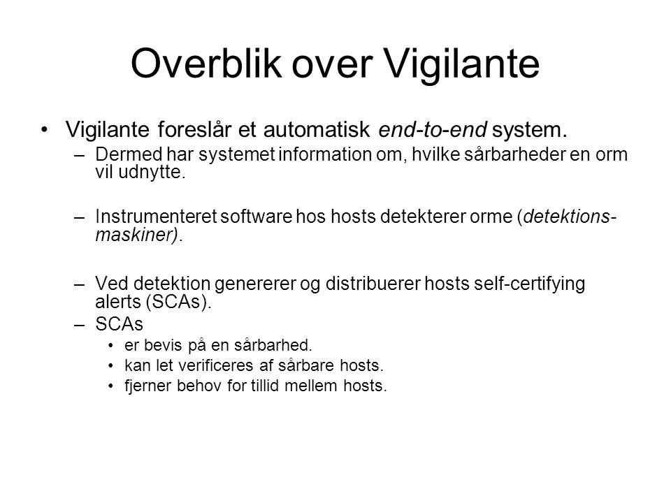 Overblik over Vigilante Vigilante foreslår et automatisk end-to-end system.