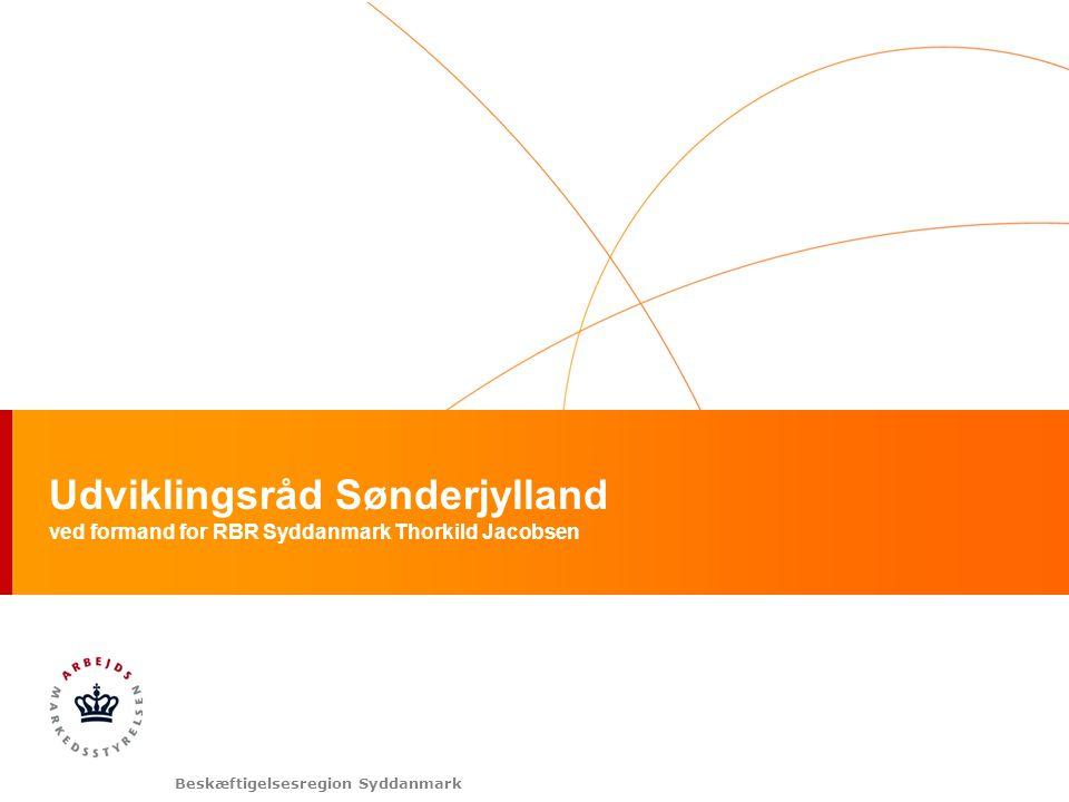 Beskæftigelsesregion Syddanmark Udviklingsråd Sønderjylland ved formand for RBR Syddanmark Thorkild Jacobsen