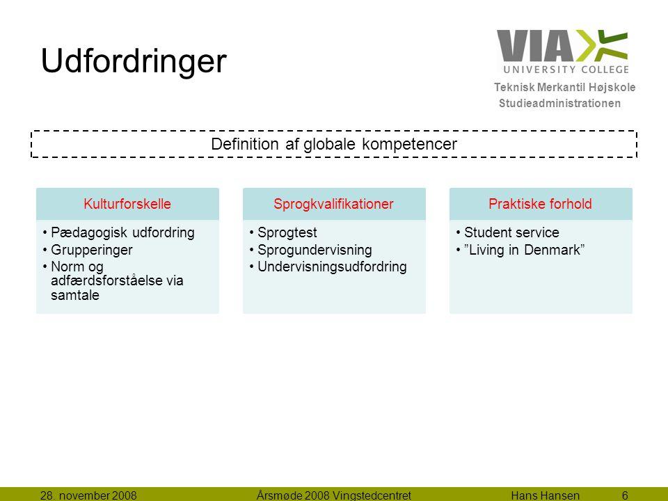 Teknisk Merkantil Højskole Studieadministrationen Udfordringer 28.