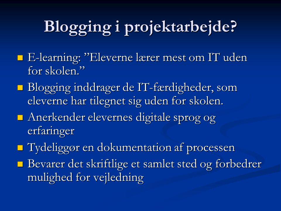 Blogging i projektarbejde.
