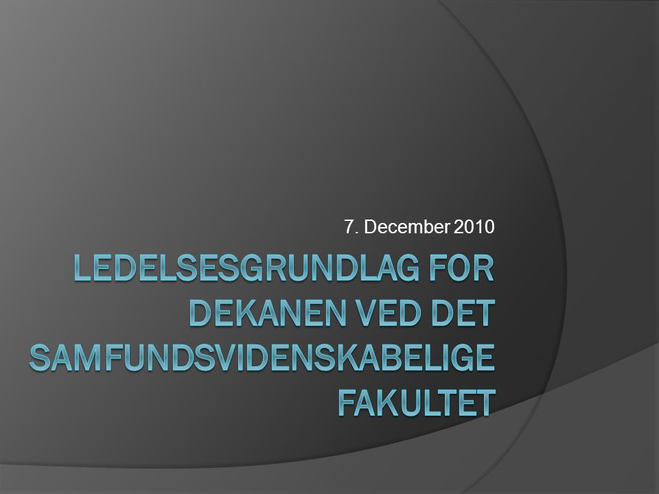 7. December 2010