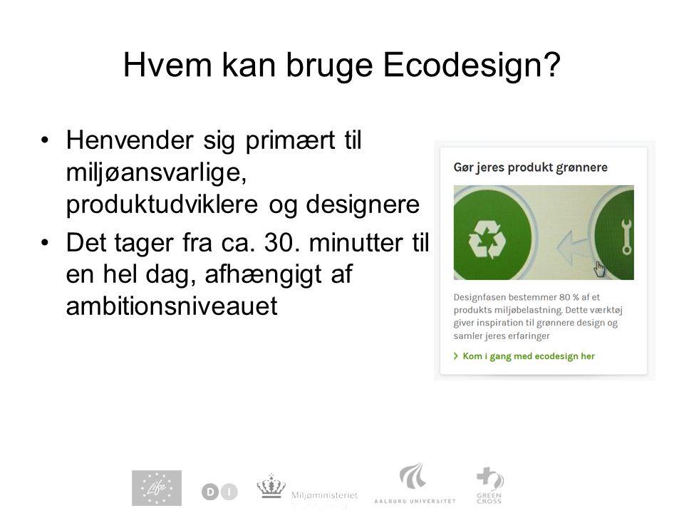 Hvem kan bruge Ecodesign.