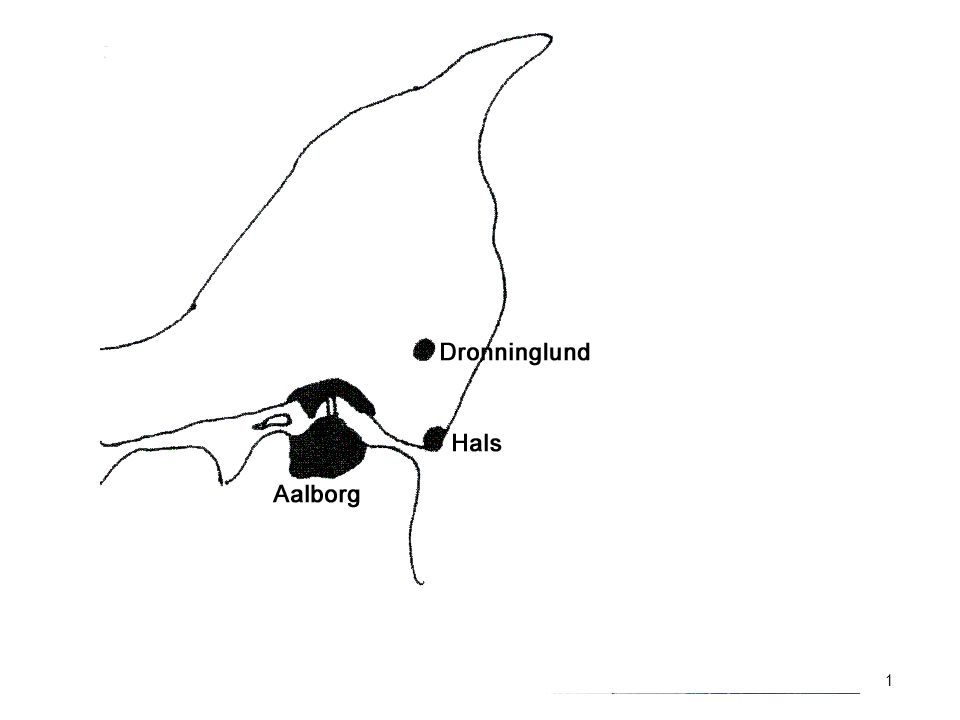 Kort over nordjylland 1