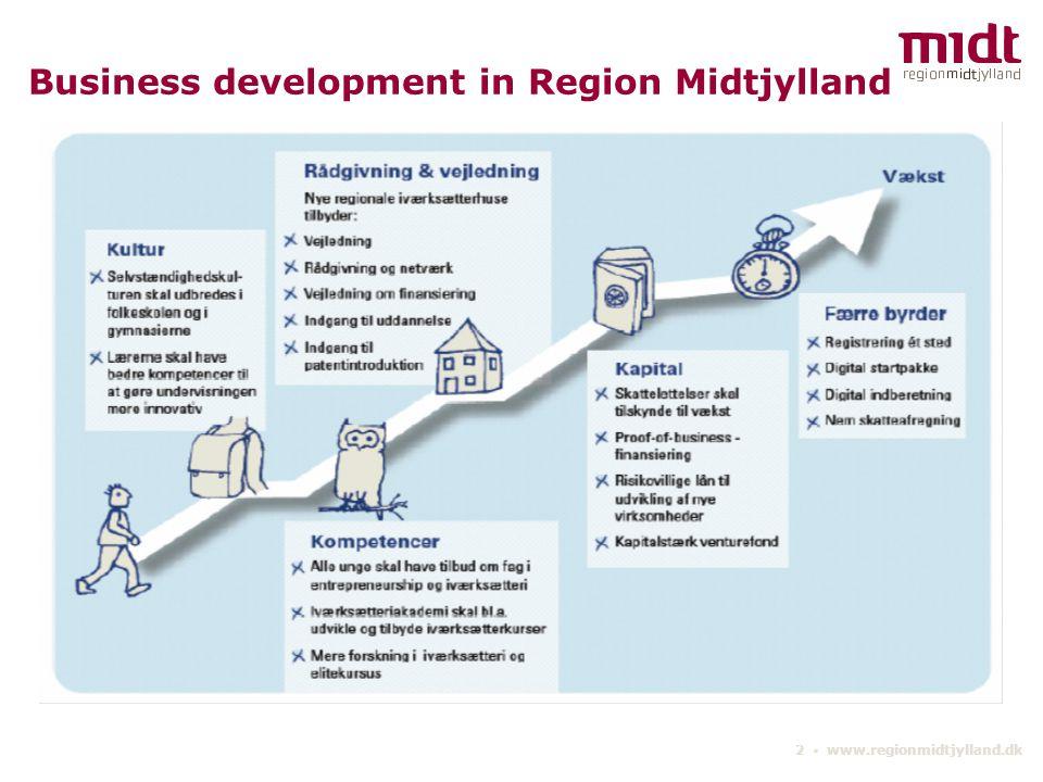2 ▪ www.regionmidtjylland.dk Business development in Region Midtjylland