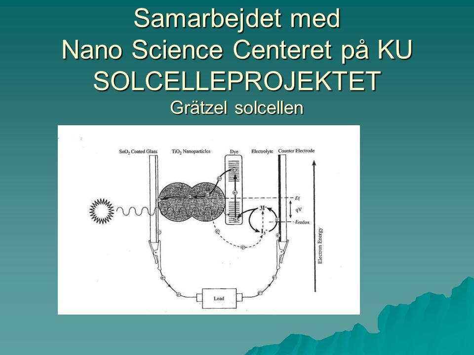 Samarbejdet med Nano Science Centeret på KU SOLCELLEPROJEKTET Grätzel solcellen