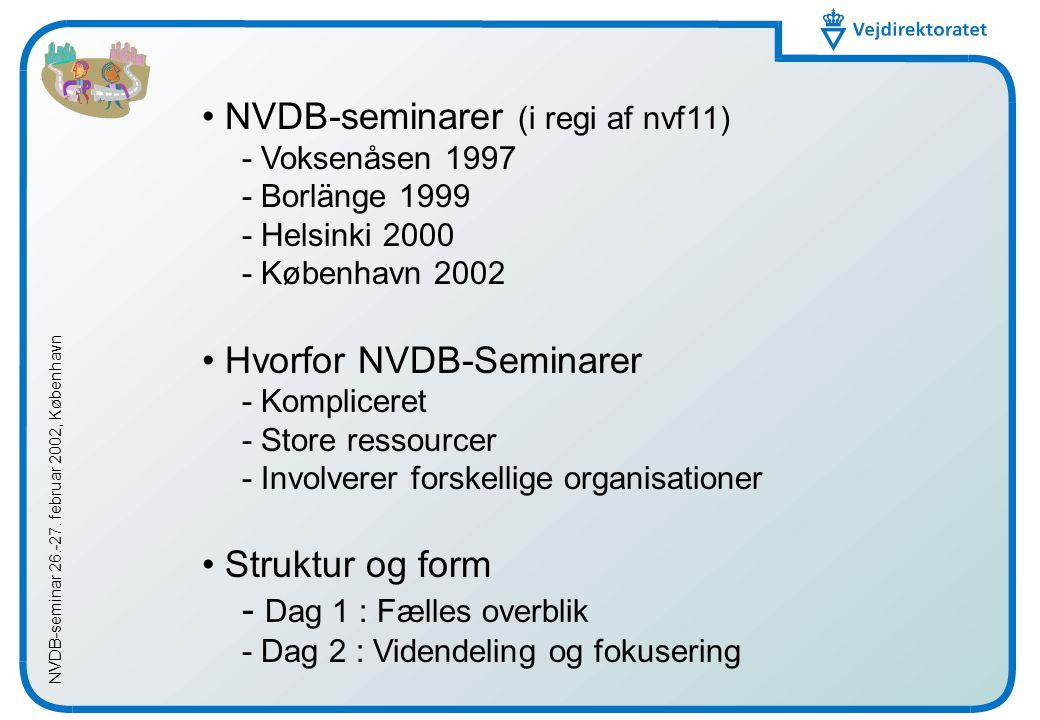 NVDB-seminar 26.-27.