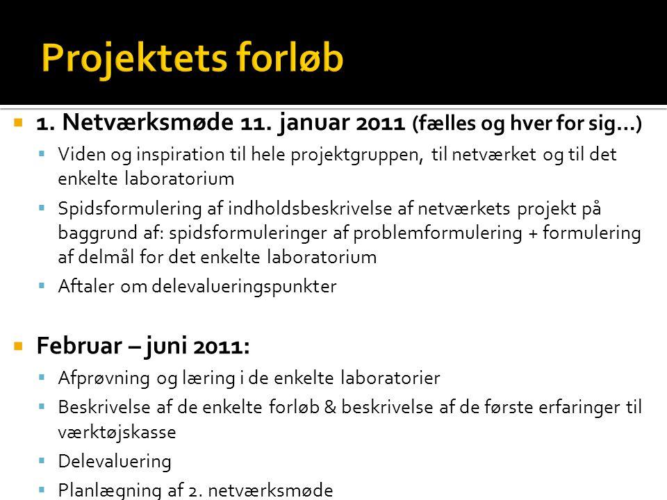  1. Netværksmøde 11.
