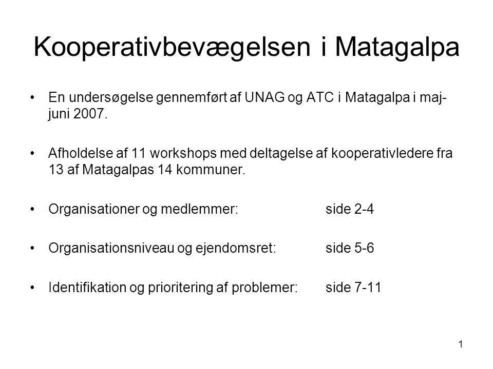 1 Kooperativbevægelsen i Matagalpa En undersøgelse gennemført af UNAG og ATC i Matagalpa i maj- juni 2007.